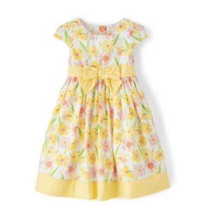 Girls Floral Dress -Spring Garden Yellow